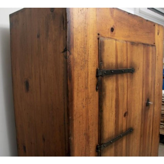 Metal Monumental Ralph Lauren for Henredon Pine Cabinet For Sale - Image 7 of 11