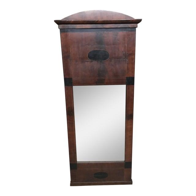 Mid 19th Century Antique Tall Biedermeier Mirror For Sale
