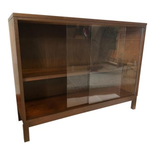 Mid Century Modern Glass Cabinet Bar Server