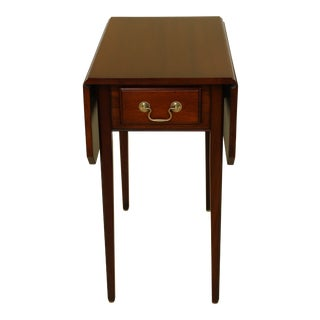 Salem Square Drop Leaf 1 Drawer Pembroke Table For Sale