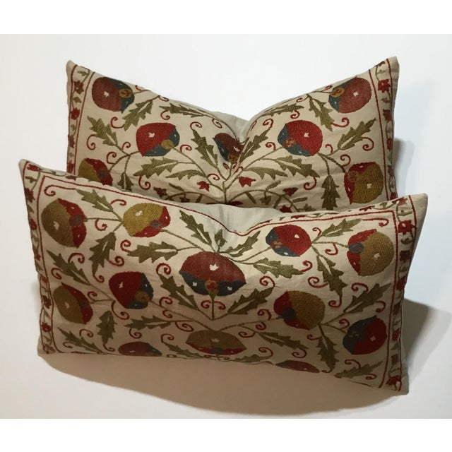 Hand Embroidery Suzani Pillows - A Pair - Image 11 of 11