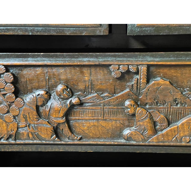 Chinoiserie Carved Camphor Wood Batchelor's Chest For Sale - Image 9 of 13