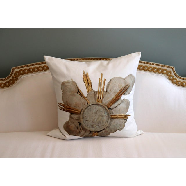 Canvas French Cathedral Altar Fragment Photo Pillow For Sale - Image 7 of 13