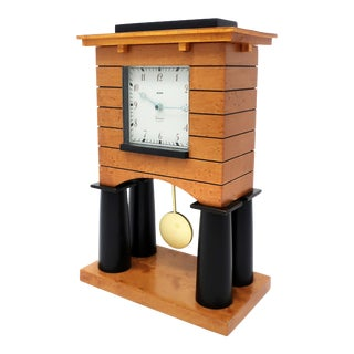 Postmodern Mantle Clock by Michael Graves for Alessi For Sale
