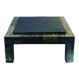Paul Evans Mixed Metals Patchwork and Slate Coffee Table For Sale