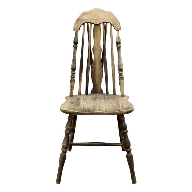 Antique Splat Tapered Back Windsor Chair For Sale - Antique Splat Tapered Back Windsor Chair Chairish