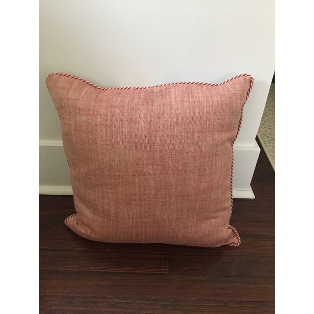 """Professionally sewn, unused 22x22 pillow cover in Galbraith & Paul's """"Lotus"""" pattern in a custom color way (Coral and..."""