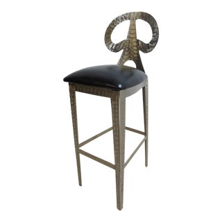 Steel Industrial Eiffel Tower Counter Stool