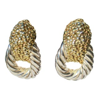 Large Rope Loop With Silver Gilt Design For Sale
