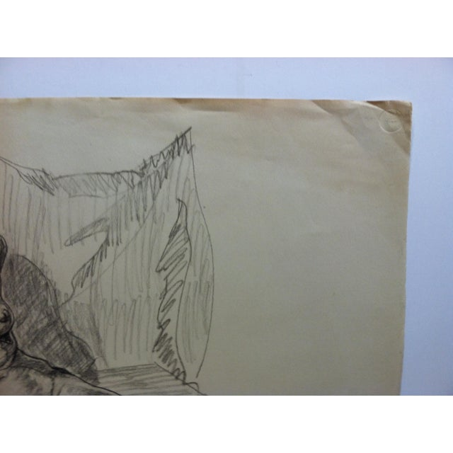 Vintage 1963 Original Drawing on Paper, Jean Applebaum