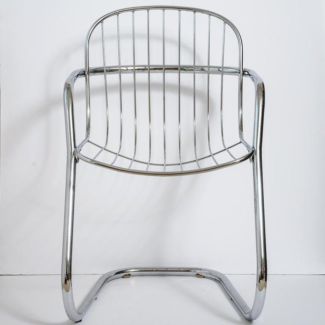 Italian Tubular Chrome Cantilever Chairs - Set of 4 For Sale In West Palm - Image 6 of 10