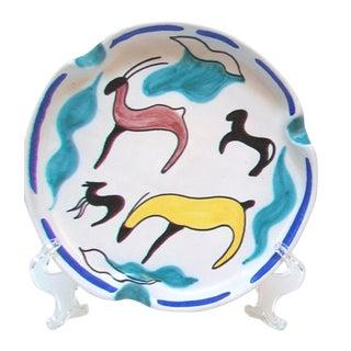 Mid-Century Art Pottery Decorative Dish For Sale