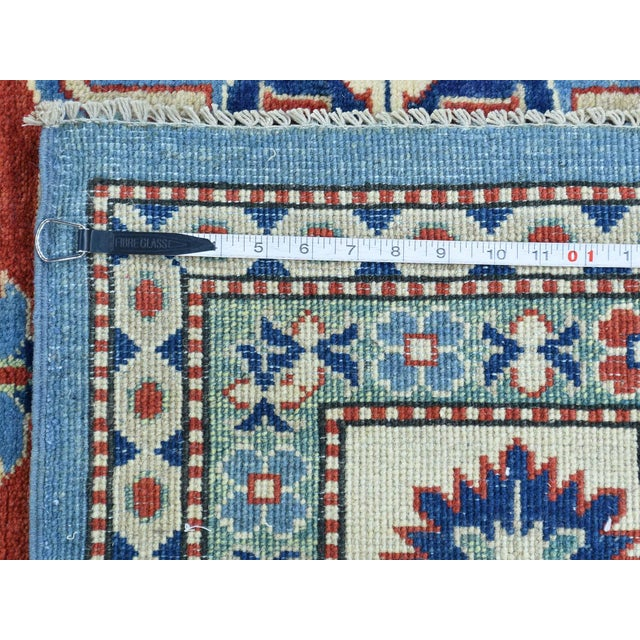 2010s Hand-Knotted Kazak Geometric Design Wool Rug- 10′1″ × 14′ For Sale - Image 5 of 6