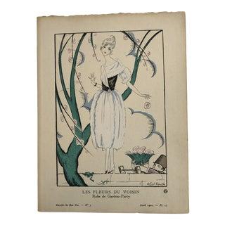 1920 Gazette Du Bon Ton Fashion Lithograph by Robert Bonfils. Free Shipping For Sale