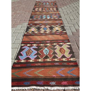 "Vintage Turkish Kilim Runner-2'6'x10"" Preview"