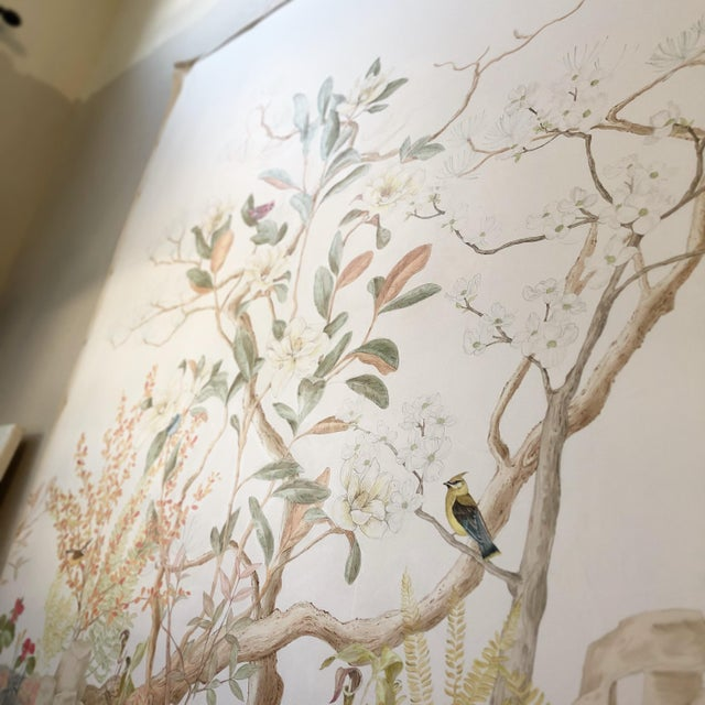 """""""Southern Woodlands"""" Chinoiserie Painting by Allison Cosmos For Sale In Los Angeles - Image 6 of 6"""