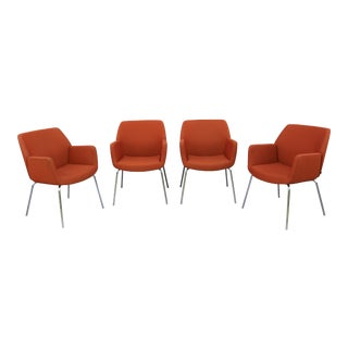 Coalesse and Steelcase Brian Kane Modern Bindu Side Chairs - Set of 4 For Sale