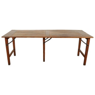 Late 19th Century French Walnut Table With Folding Legs For Sale