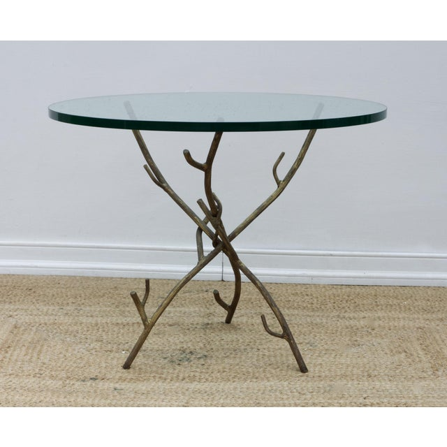 Gold Faux Bois Branch Form Cocktail Table For Sale - Image 8 of 8