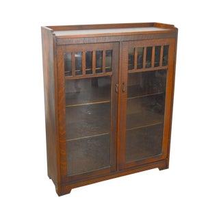 Mission Oak Antique 2 Door Stickley Era Bookcase
