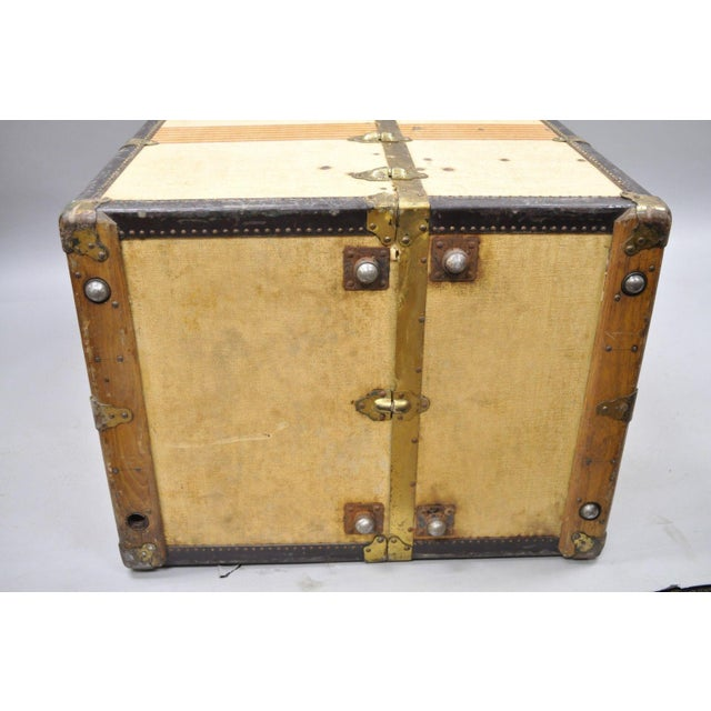 1930s Traditional Oshkosh the Chief Wardrobe Steamer Trunk For Sale - Image 10 of 13