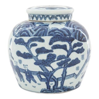 Antique Chinese Blue & White Ginger Jar For Sale