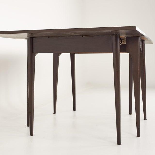 Kroehler Refinished Mid Century Drop Leaf Dining Table For Sale - Image 10 of 12