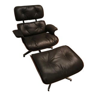 Rosewood Herman Miller Eames Lounge Chair & Ottoman - A Pair