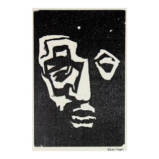 Martin Snipper 20th Century Posthumous Linoluem Block Print Mid 20th Century For Sale