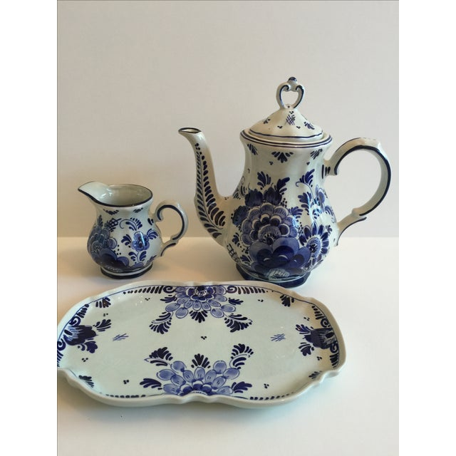 Delft Blue & White Coffee Set - Image 4 of 4