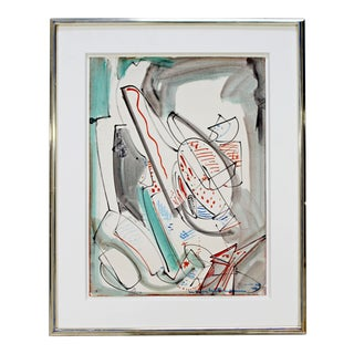 """Original """"Upward"""" Abstract Oil Painting on Paper Signed Hans Hofmann, 1946 For Sale"""