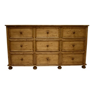 Pine Chest of Nine Drawers For Sale