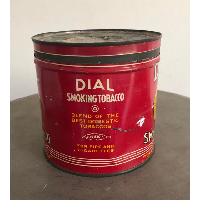 1950s Vintage Tobacco Tin With Labels For Sale - Image 5 of 10