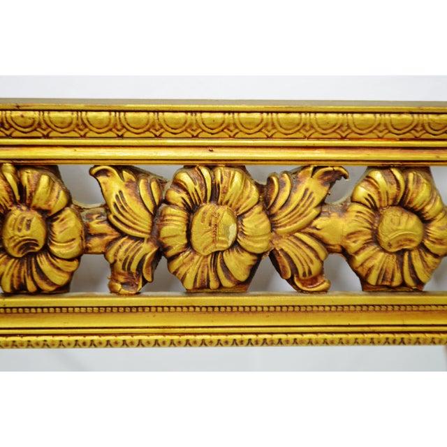 Gold Gilt Pierced Wall Mirror - Image 6 of 9