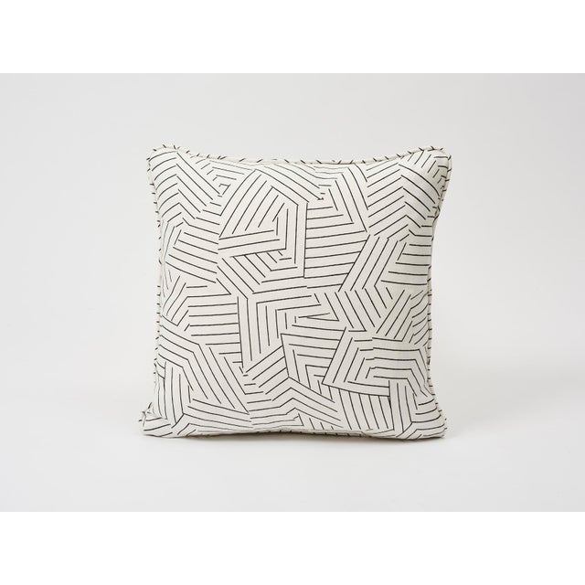 Schumacher Pillow in Deconstructed Stripe Double-Sided Print For Sale In New York - Image 6 of 8
