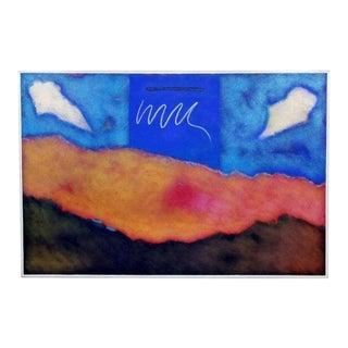 "1982 Vintage Mario Bencomo ""Meridian"" Acrylic on Canvas Painting For Sale"