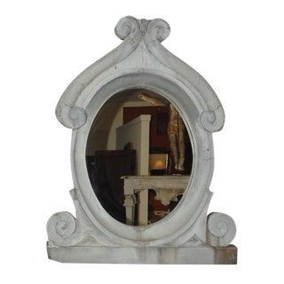 "19th Century French Gray Zinc Wall Mirror - 57"" X 44"""