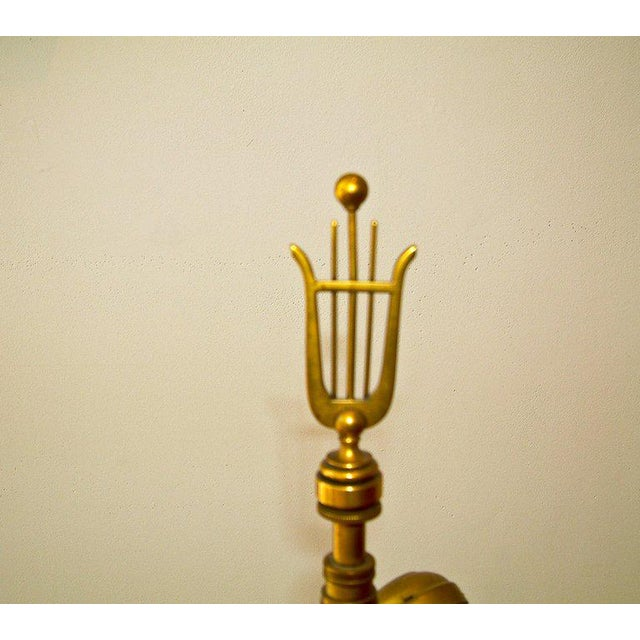 Circa 1950 Mid-Century attributed to Maison Jansen Bronze French Candle Table Lamp -1 - Image 6 of 9