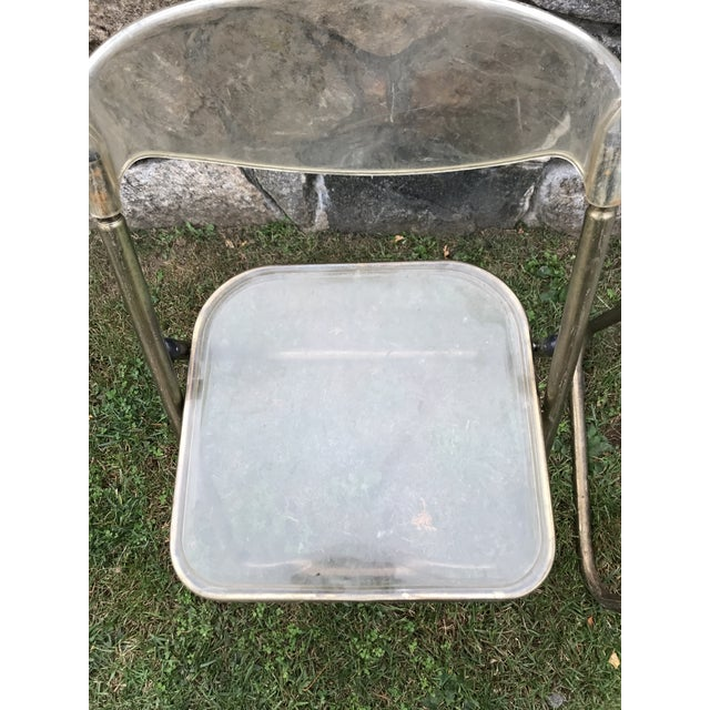 Italian Mid-Century Lucite Folding Chairs - A Pair - Image 6 of 10