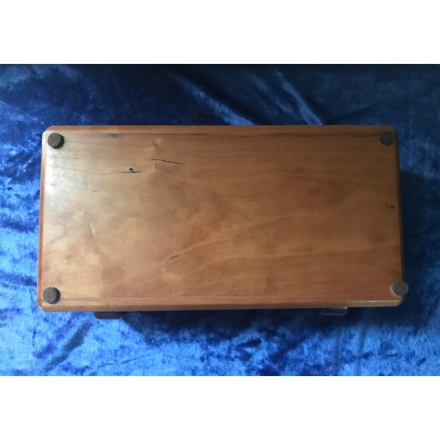 Brown Minimalist Hand Made Wood Vanity Dresser Box For Sale - Image 8 of 9