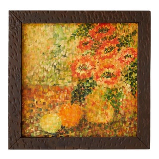 Cheerful Post Impressionist Still Life of Flowers and Fruit For Sale