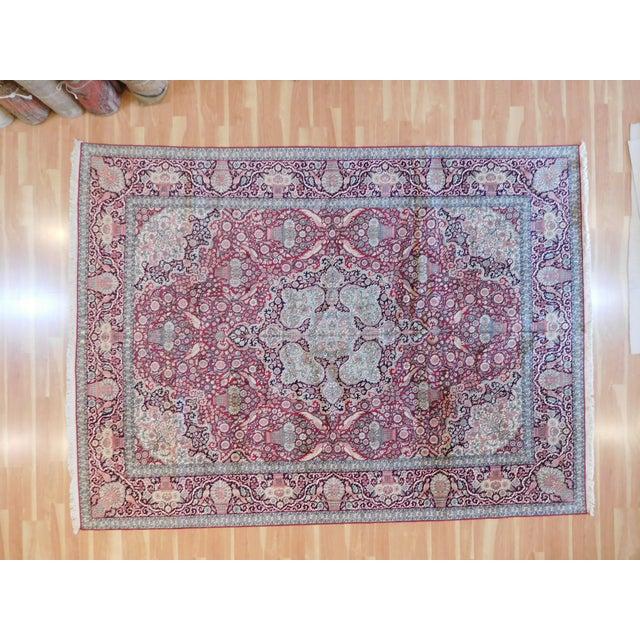 "Textile Indian Kashmir Rug - 8'9"" x 12' For Sale - Image 7 of 7"