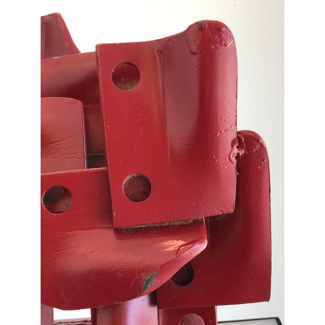 Vintage Brutalist sculpture circa 1970's Heavy painted iron. In the manner of Edgar Negret