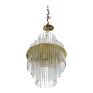 Vintage v. Nason & Co. Chandelier in Murano Glass and Brass For Sale