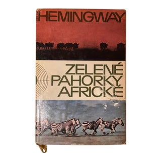 1960s Ernest Hemingway's Green Hills of Africa in Czech For Sale