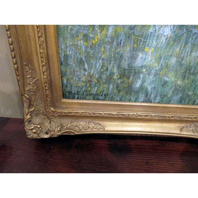 Impressionism Impressionistic Landscape, Oil on Canvas Landscape, Martin Jewell For Sale - Image 3 of 5