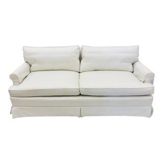 Vintage Rolled Arm Love Seat Sofa For Sale