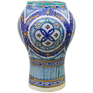 Andalusian Ceramic Vase For Sale