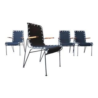 Pipsan Saarinen-Swanson Iron & Canvas Chairs For Sale