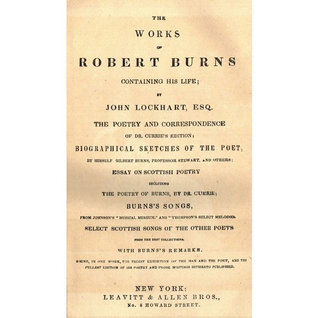 Works of Robert Burns, First Edition - Image 2 of 2